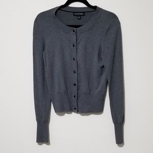 Banana Republic Silk Cashmere Gray Button Cardigan